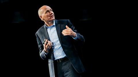 Telenorsjef Sigve Brekke under oljemessen ONS i Stavanger.