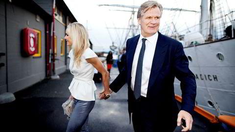 Tor Olav Trøim var John Fredriksens høyre hånd frem til bruddet i 2014. Her er Trøim sammen med samboeren Celina Midelfart. Foto: Ida von Hanno Bast