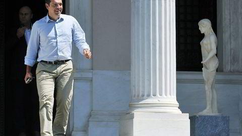 Hellas statsminister Aleksis Tsipras. Foto: Giannis Kotsiaris, AP/NTB Scanpix