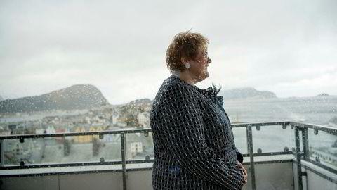 Venstre-leder Trine Skei Grande har god utsikt fra suiten på landsmøtehotellet i Ålesund. Hun speider også tilbake på fire års turbulent samliv med regjeringspartiene.