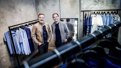 Investor Ola Mæle (til venstre) og idéhaver Ivar Langenes eier hver sin halvpart av det nye herremerket Urban Pioneers, som foreløpig er solgt til 36 butikker. Begge foto: Gorm K. Gaare