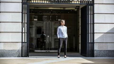 Siv Juvik Tveitnes er direktør for Schibsteds nyhetsmedier. Torsdag presenterte hun forretningsmodellen under en kapitalmarkedsdag på London Stock Exchange.