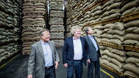 Fra venstre er Torbjørn, Johan og Knut Hartvig Johannson. Familien er største eier i Norgesgruppen og investerer nå over 100 millioner kroner i boligutviklingsselskapet Solon Eiendom.