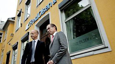 CFO Hjalmar Krogseth Moe og CEO Ivar Brandvold i Fred. Olsen Energy mener de er godt posisjonert for fremtiden i midwater-rigger. Foto: