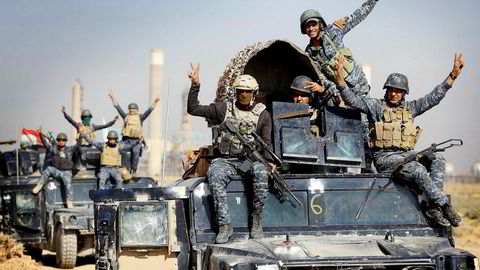 Irakiske styrker inntok mandag deler av Kirkuk.