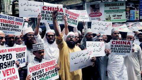 Det har vært større demonstrasjoner i India, Indonesia og Bangladesh de siste ukene mot Kina etter masseinterneringene. I Mumbai samlet nesten 150 muslimer seg i protest for to uker siden.