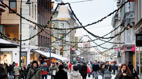 Den høye omsetningen på Black Friday førte til en rolig påfølgende handelsuke.                    Foto: Erik Johansen, NTB /Scanpix