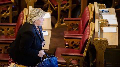 Erna Solberg ble beskyldt for å være ideologisk. Det ville hun ikke ha på seg. Foto: Per Thrana