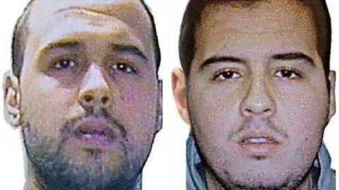 Brødrene Khalid (venstre) og Ibrahim El Bakraoi er bekreftet av belgiske myndigheter som to av gjerningsmennene bak angrepene i Brussel. Foto: AFP PHOTO