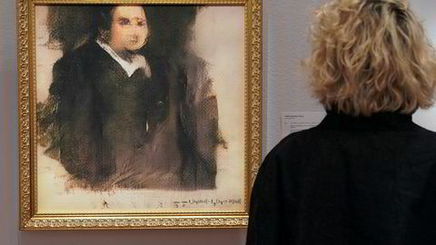 Portrettet «Edmond de Belamy» er laget av kunstig intelligens og signert med en matematisk ligning.