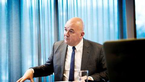 Konsernsjef i Euronext, Stéphane Boujnah, avholder kapitalmarkedsdag i Paris fredag. Her fra et Oslo-besøk tidligere i år.