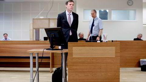 Advokat Trygve Faksvaag (bildet) fortalte torsdag i Borgarting lagmannsrett om møtet med en opprørt Tor Holba som varslet ham om en betaling knyttet til Libya. Foto: