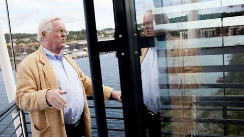Herbjørn Hansson tapte 23 millioner kroner i fjor, her på sitt hovedkontor i Sandefjord.