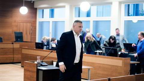 Norske Skog-sjef Sven Ombudstvedt er vitne i Yara-ankesaken i Borgarting Lagmannsrett.                   Foto: Per Ståle Bugjerde
