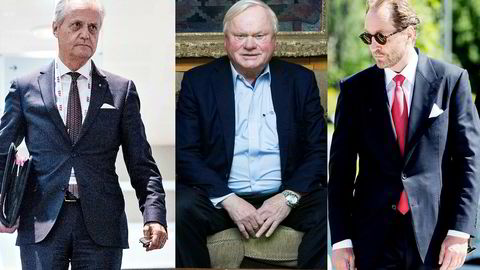 Fra venstre Kristian Siem, John Fredriksen og Kjell Inge Røkke.