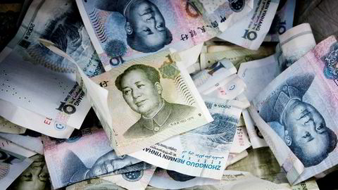 Yuan mot Dollar er på sitt laveste siden finanskrisen.