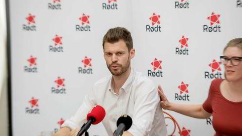 Partileder Bjørnar Moxnes og nestleder Marie Sneve Martinussen i Rødt har gode tider på målingene. Forrige uke oppsummerte de før sommeren.