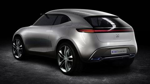 Dette er en konseptbil som heter Vision G-Code fra 2014. Hvordan den nye elektriske suven ser ut, er ennå ikke klart for offentligheten. Foto: