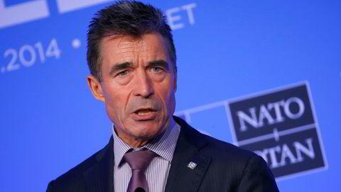 NATOs avtroppende generalsekretær Anders Fogh Rasmussen ser ikke for seg politiske løsninger på trusselen fra IS. Foto: Yves Herman / Reuters / NTB scanpix