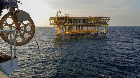 Magseis Fairfield-aksjen falt kraftig forrige uke og bidro til negativ avkastning for Sparebank 1 Markets portefølje. På bildet ses Magseis' MASS-noder som blir lagt ned på havbunnen på Bokor-feltet i Malaysia.