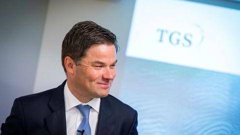 Konsernsjef Kristian Johansen fra fremleggelsen av kvartalstallene til TGS i 2018. Nå vil han kjøpe databiblioteket til konkurrenten PGS.