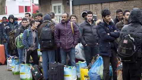 Hvert avsenderland har en liten gruppe av mottagerland som får en klar majoritet av asylsøkerne. Somalierne drar for eksempel i stor grad til Storbritannia, Norge og Nederland. Foto: Arie Kievit/AFP/NTB Scanpix
