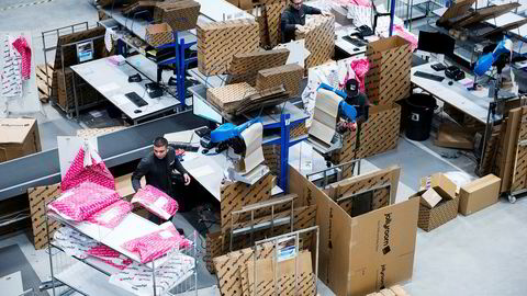 Her fra Jollyrooms sentrallager og distribusjonssenter i Göteborg der barn- og babyprodukter pakkes og sendes ut til hele Norden.
