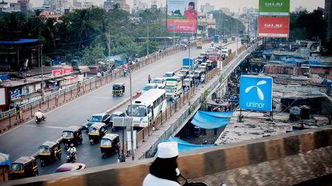 – Vi leverer ikke god nok hastighet, sier Telenor-sjef Sigve Brekke. Uninor er Telenors datterselskap i India, her i Mumbai. Foto: Kristine Nyborg