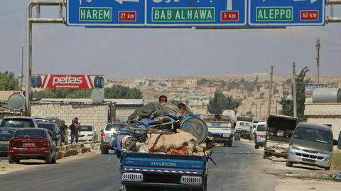mange flykter nå fra Idlib-provinsen.