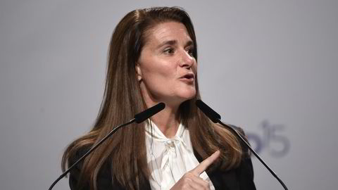 Melinda Gates kunngjorde onsdag at stiftelsen hun har opprettet med ektemannen, nå gir milliarder til å bekjempe sult. Foto: Lucas Jackson / Reuters / NTB scanpix