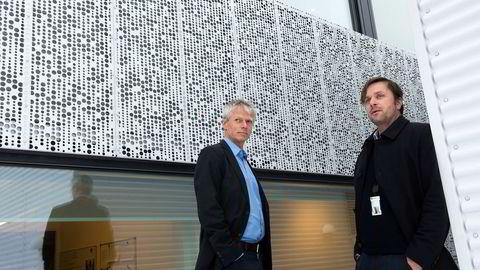 Skattedirektør Hans Christian Holte (til venstre) og Knut Nordrum fra Skatteetaten har sikret 1,2 milliarder kroner i ekstrainntekter for Norge ved å kontrollere momsinnbetalingen til utenlandske digitalselskaper.