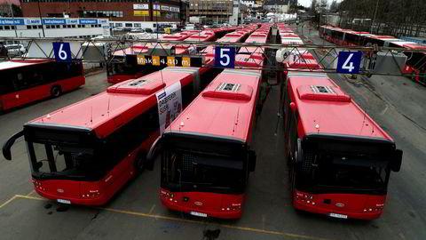 Illustrasjonsfoto: 3.800 bussjåfører på Østlandet kan bli tatt ut i streik fra søndag.