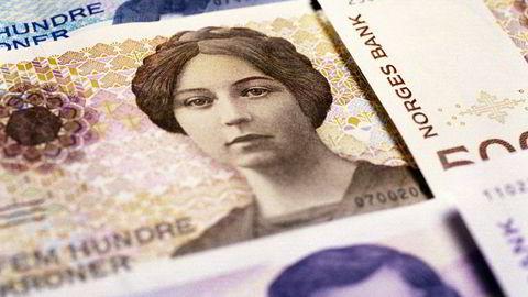 Norske kroner vil styrkes fremover, tror meglerhuset SEB. Foto: Berit Roald /