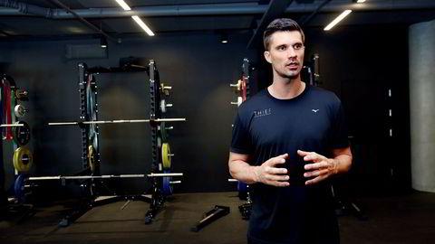 Tidligere håndballspiller og treningsgründer Kristian Kjelling i lokalet til treningssenteret Thief Performance.