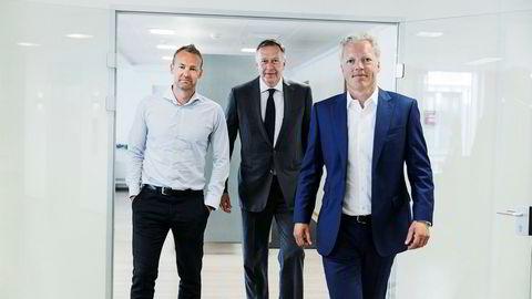 Matlevering gir hodebry for ledelsen i oppkjøpsfondet Herkules Capital. Gaute Gillebo (til venstre), Gert W. Munthe og Cato A. Haug har tapt 70 millioner kroner på selskapet Lina Matkasse i løpet av de siste to årene.