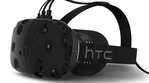 VR-hodesettet HTC Vive er utviklet i samarbeid med spillteknologiselskapet Valve, og kommer på markedet allerede i år. Foto: HTC