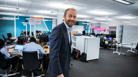 Divisjonsdirektør Halvor Lande i DNB har satt av en etasje i sitt hovedkvarter for å utvikle nye digitale løsninger.