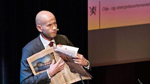 Olje- og energiminister Tord Lien tror på vekst i oljeindustrien i Nord-Norge, selv om industrien har fått redusert oljeinntektene i nord de siste årene. Foto: Aleksander Nordahl