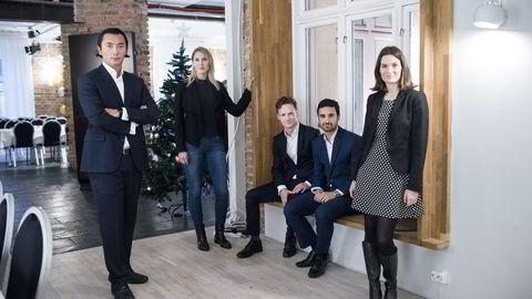 MAKROPANELET. Fra venstre: Olav Chen, Erica Blomgren, SEB, Bjørn-Roger Wilhelmsen, Shakeb Syed og Camilla Viland. FOTO: Skjalg Bøhmer Vold