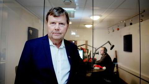Radiosjef Svein Larsen i Radio Metro får ikke erstatning etter at han mente seg utestengt fra dab-radio. I bakgrunnen sitter musikksjef og programleder Ronny Bergersen.