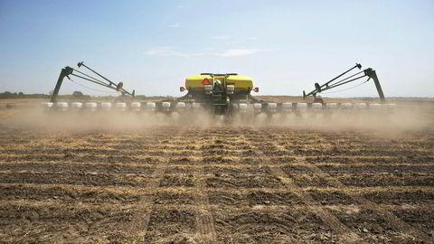Å så mais i den amerikanske Midtvesten krever gigantiske maskiner uansett om maisen er genmodifisert eller ikke.