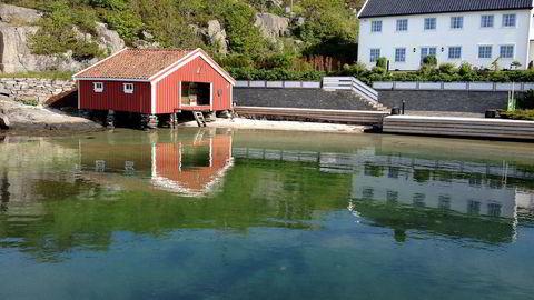 Dag Høilis eiendom Kampedalen i Blindleia.                   Foto: Lillesand Kommune