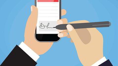 Digital signering vil være et valg, ikke et krav. De som ønsker å signere på papir, kan fortsette med det.