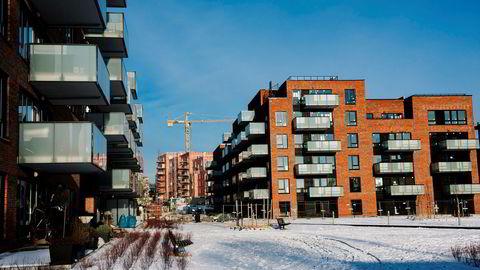 Boligprosjektet Krydderhagen på Hasle i Oslo, hvor AF Gruppen bygger over 500 leiligheter.