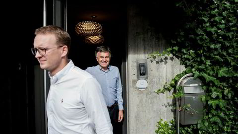 Halvor Øgreid (foran) har tatt over styringen av Øgreid-familiens investeringsselskaper etter faren Knut Øgreid. Familien styrer selskaper med en verdijustert egenkapital på opp mot 2,5 milliarder kroner.