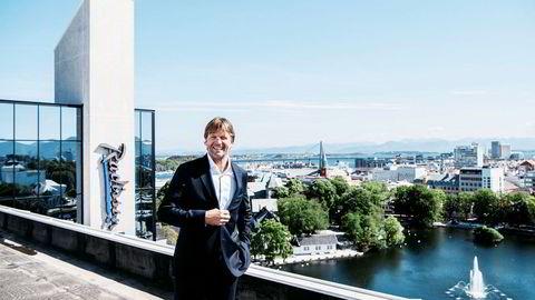 Bjørn Maaseide lanserte Kraft Fondene på en pressekonferanse på Atlantic Hotel i Stavanger på tirsdag.