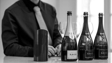 Smaking av Krugs årgang 2002 avslørte en stålende og pur ung champagne. Foto: Jens Bredberg