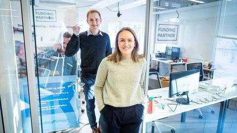 Guro Rognstad Levang er ansatt i DNB, men jobber nå i FundingPartner. Sammen med gründer og daglig leder Geir Atle Bore har hun travle dager på det lille kontoret til selskapet som holder til i StartupLab i Forskningsparken.