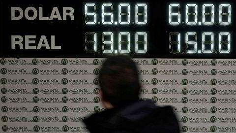 Etter å ha flat kraftig i tre dager hentet pesoen seg noe inn torsdag.