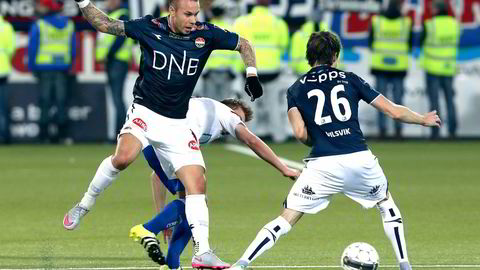 Fremover må seerne gå til Discovery for å se Marcus Pedersen score for Strømsgodset.  Foto: Terje Pedersen,